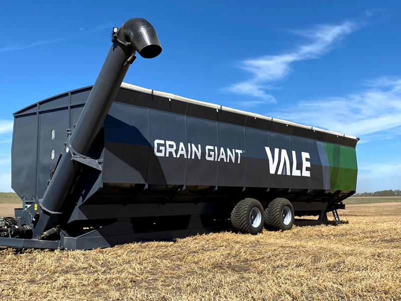 grain giant mobile grain bin with increased field storage