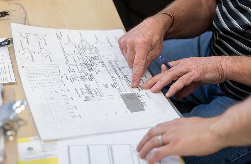 explaining schematics and blueprints