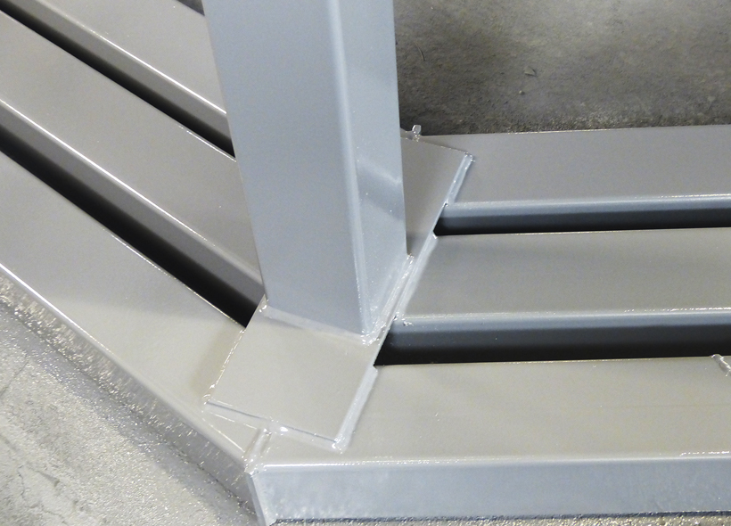 robust heavy wall legs for single, double, triple and quad skids