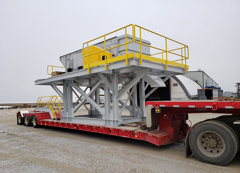 custom portable gravel crushing plant on trailer
