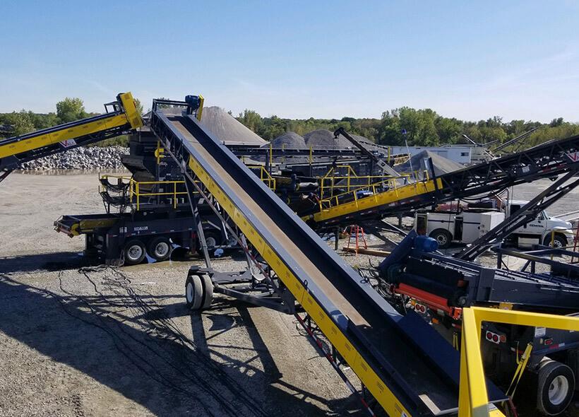 portable mining gravel belt conveyor