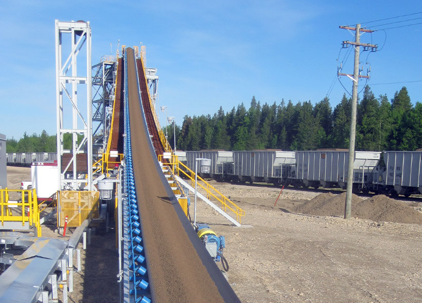 custom stationary mining belt feeder Canada