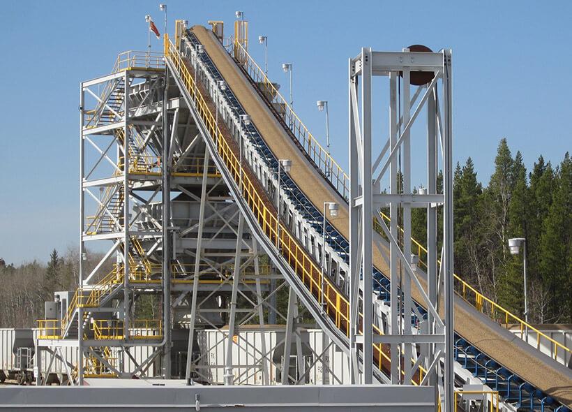 custom stationary quarry belt conveyor