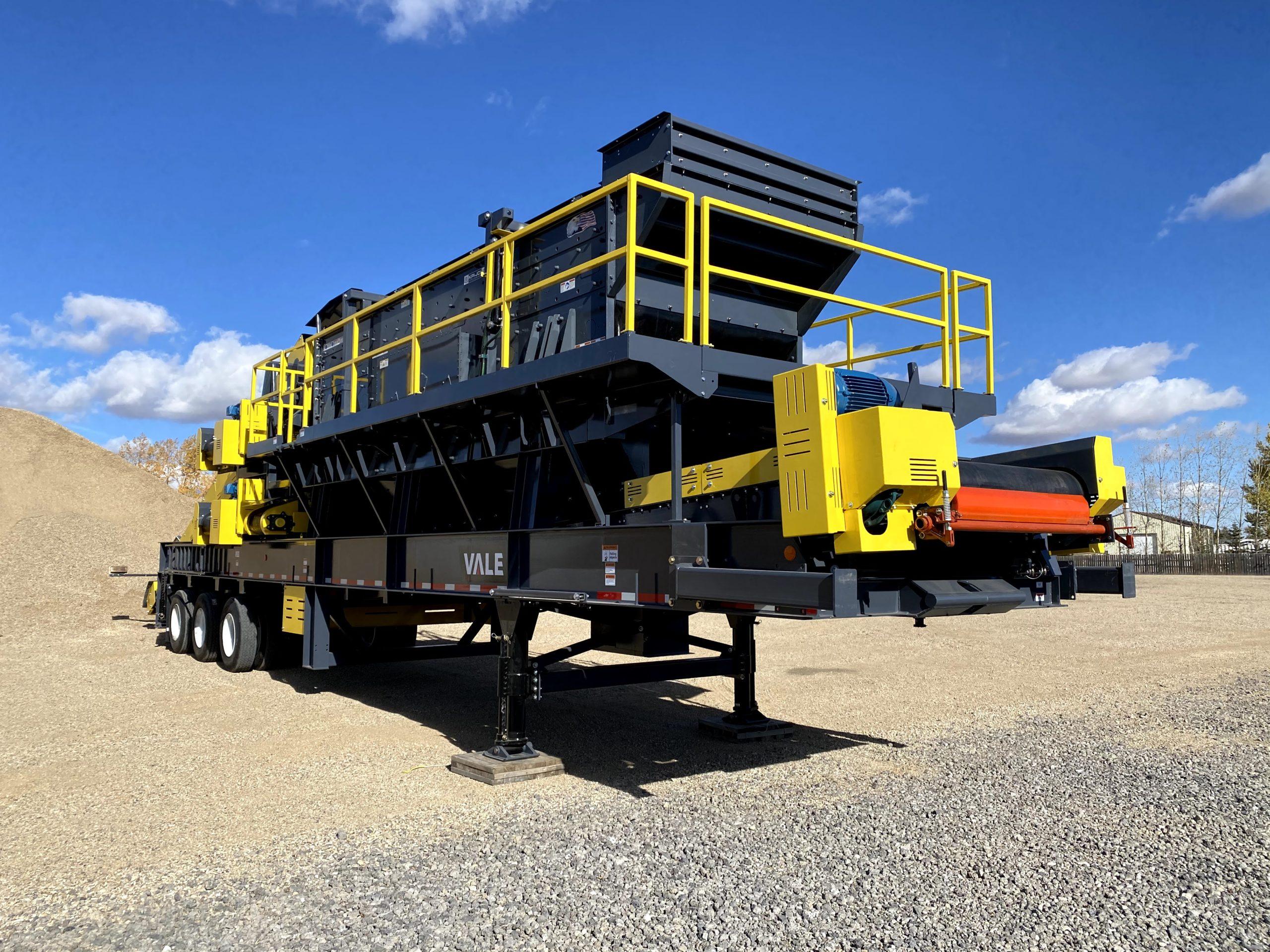 custom portable gravel crushing plant on trailer